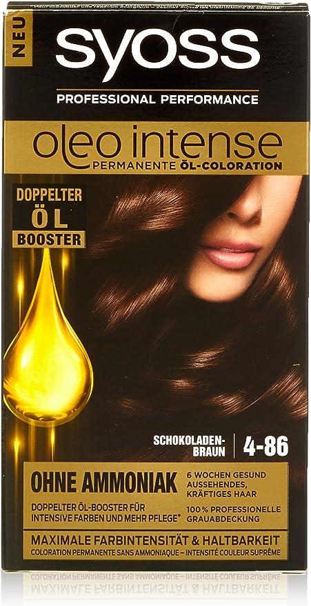 Syoss Oleo Intense - Tinte para el cabello, color marrón chocolate, 4-86, 3 unidades (3 x 115 ml)