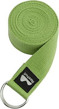 REEHUT Yoga Strap (6ft, 8ft, 10ft) w/Adjustable D-Ring Buckle - Durable Polyester Cotton Exercise Straps for Stretching, General Fitness, Flexibility ...