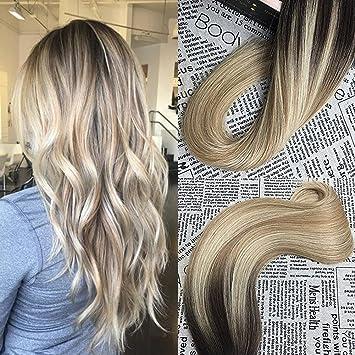 Amazon moresoo 14 inch tape in remy hair extensions balayage moresoo 14 inch tape in remy hair extensions balayage hair color dark brown 2 fading pmusecretfo Choice Image