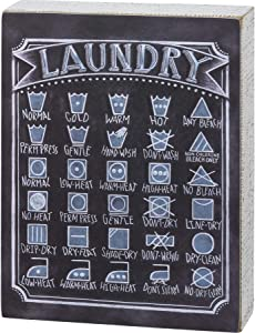 Primitives by Kathy Chalk Sign - Laundry Decoding Care Symbols