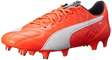 f2868bfbb Amazon.com | PUMA Men's Evospeed SL Leather FG-M, Lava Blast/White ...