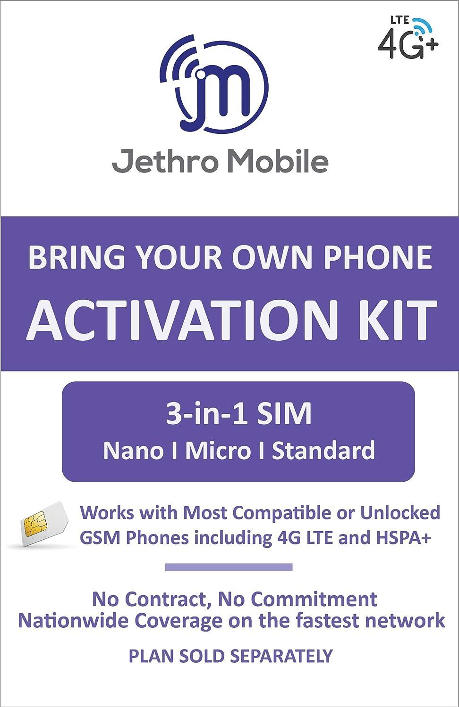 Jethro Mobile USA Travel SIM Card, Prepaid, Plan, NO Contract