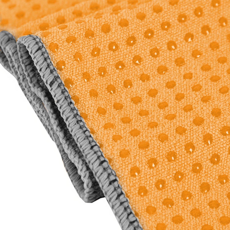Yogabum antideslizante Yoga Mat Prima Toalla (Pumpkin Orange): Amazon.es: Deportes y aire libre