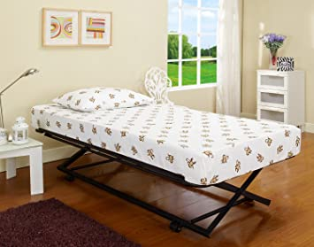 Amazon Com 39 Twin Size Black Metal Pop Up Trundle For Daybeds Furniture Decor