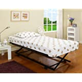 39''/ Twin Size Black Metal Pop Up Trundle For Daybeds