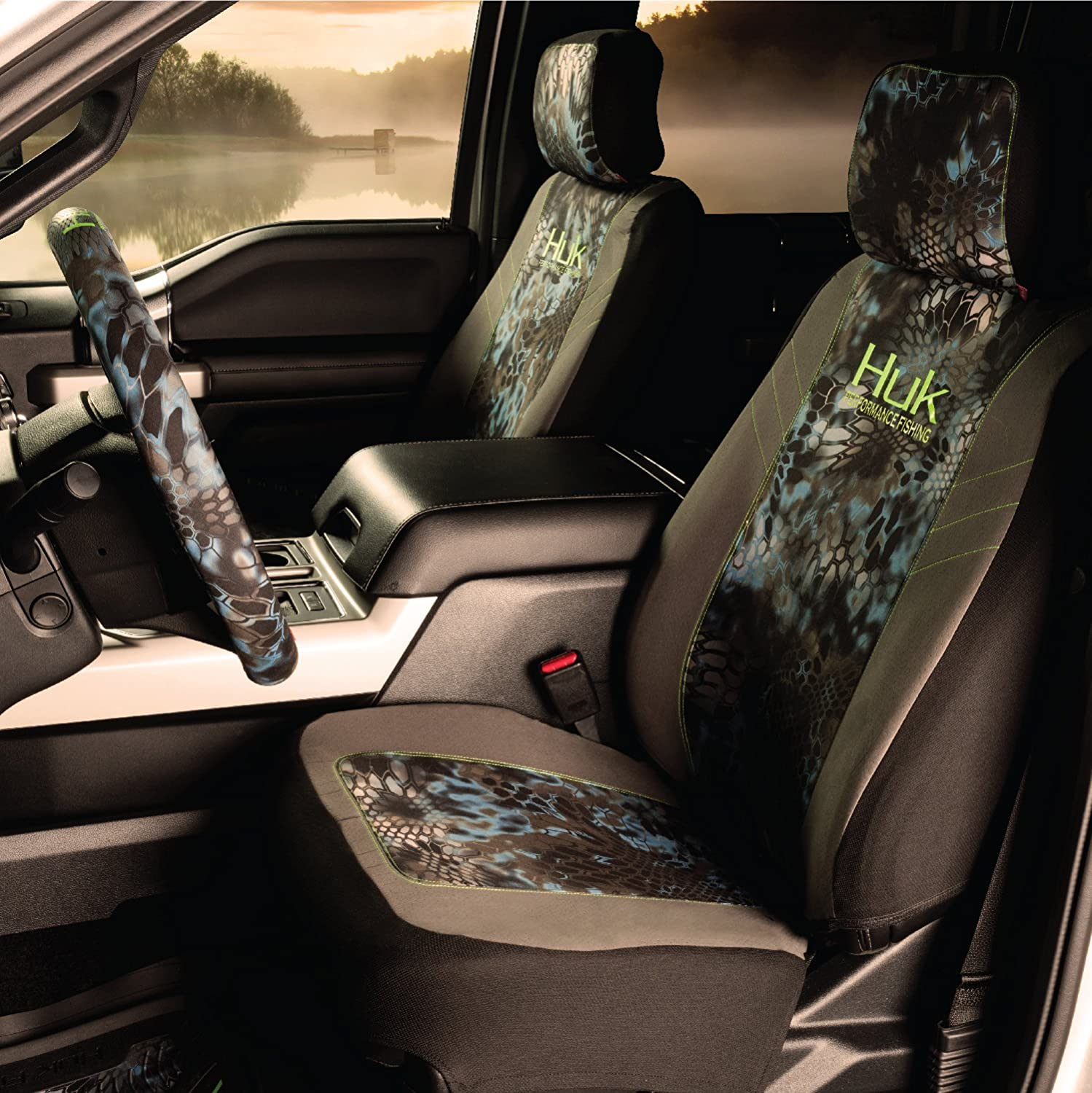Huk Low Back Seat Cover Includes 1 Camo Seat Cover Original Fit Kryptek Neptune Camo