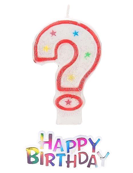 Vela como signo de interrogación Plus * Happy Birthday ...
