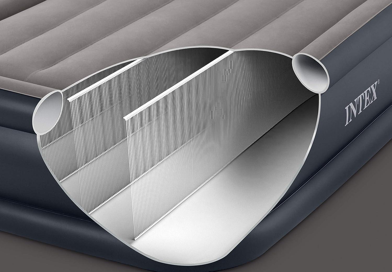 Intex 64132 - Colchón hinchable Dura-Beam Standard Deluxe Pillow 99 x 191 x 42 cm