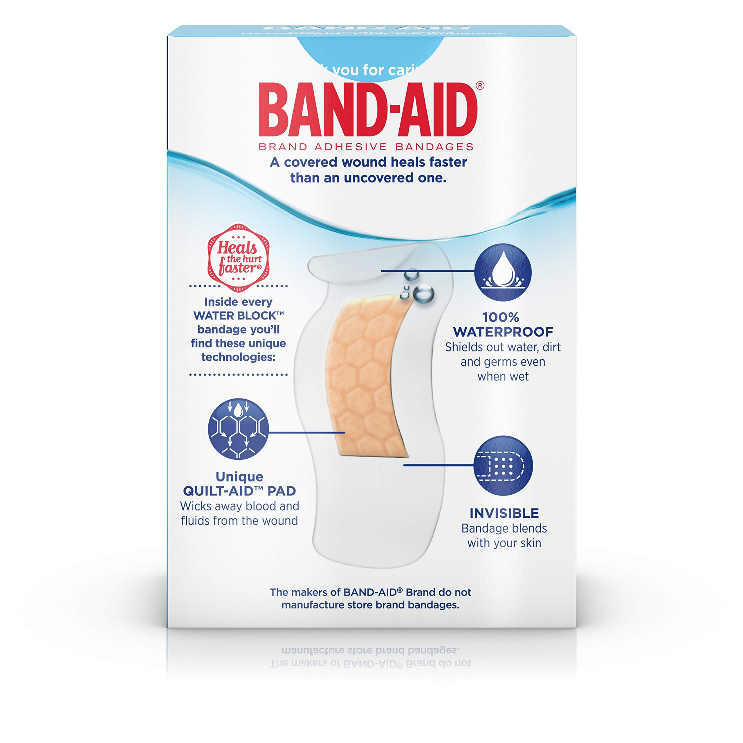 Band-Aid Brand Water Block Plus Waterproof Clear Adhesive Bandages for Minor Cuts and Scrapes, 30 ct (6 Pack) by Band-Aid (Image #11)