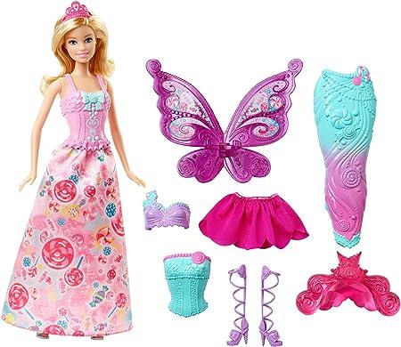Imagina todo tipo de cuentos de hada con este pack ideal para regalar que incluye una muñeca Barbie