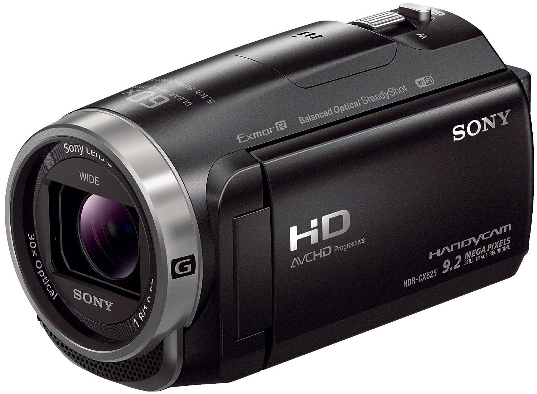 Sony HDR-CX625 Videocamera Handycam, Sensore CMOS Exmor R da 3,1 mm retroilluminato, Obiettivo grandangolare G con Zoom Ottico 30x, Nero