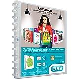 Elba - 100205600 - Polyvision Variozip Protège-Documents Personnalisable à Pochettes Amovibles 40 Vues Polypropylène Translucide A4 Incolore