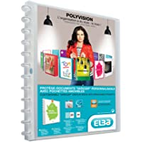 Elba - 100205600 - Polyvision Variozip Protège-Documents Personnalisable à Pochettes Amovibles 40 Vues (20 pochettes) Polypropylène Translucide A4 Incolore