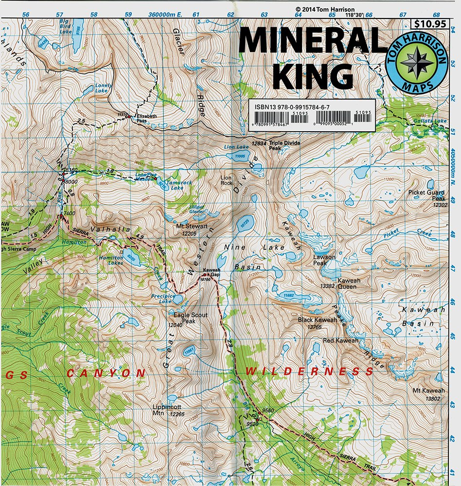 Mineral King Hiking Map Harrison product image