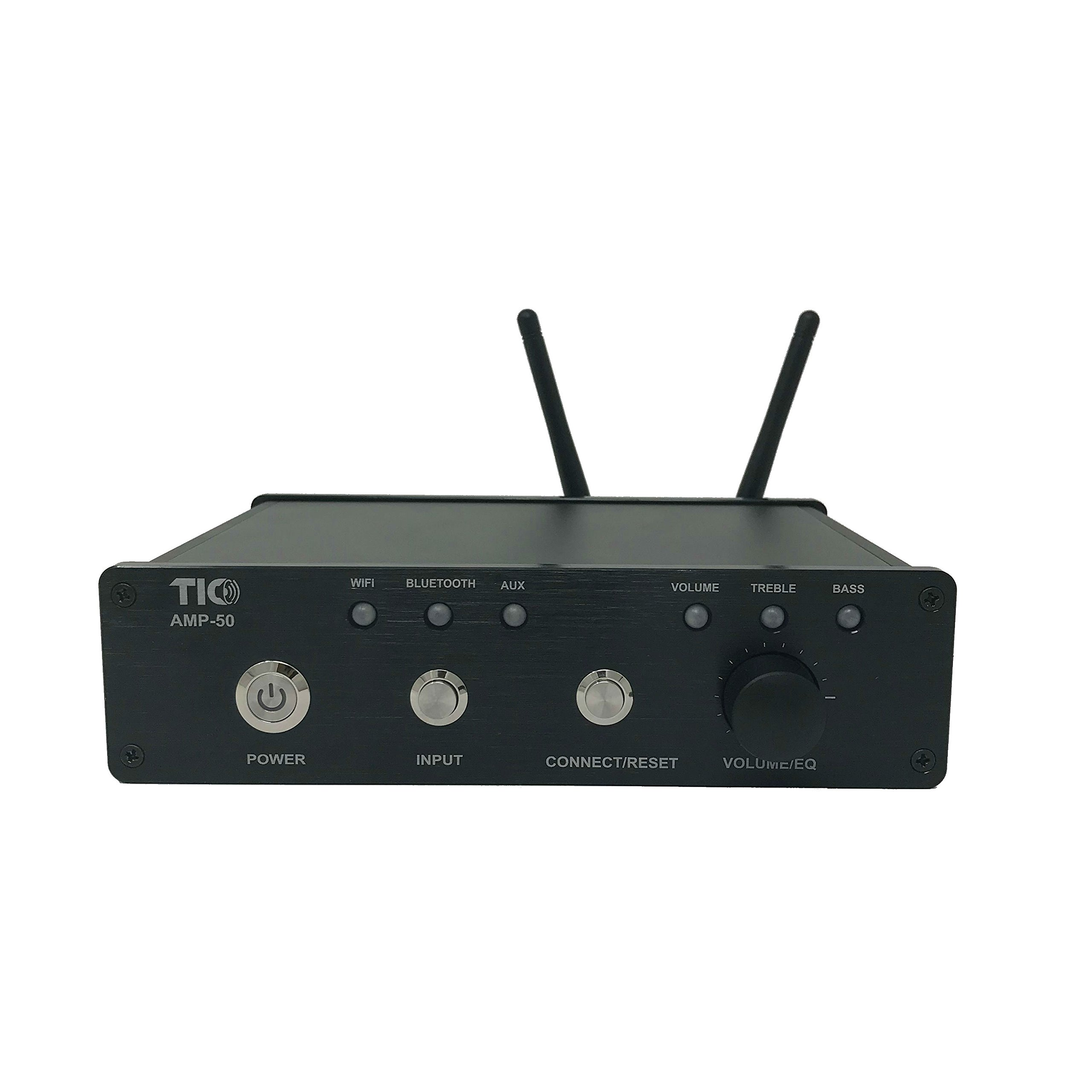 TIC AMP50 100W 2-Channel Indoor-Outdoor WiFi-Bluetooth Multiroom Amplifier with AirPlay