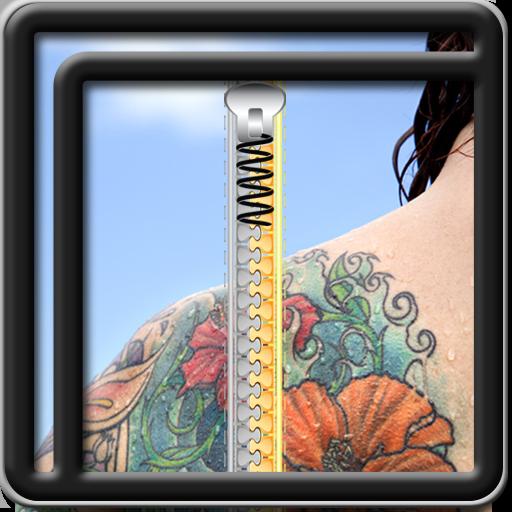 La cremallera de bloqueo de pantalla del tatuaje: Amazon.es ...