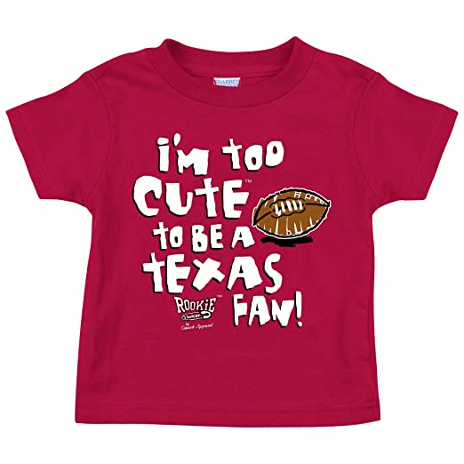 30af2c7f9 Amazon.com: Oklahoma Sooners Fans. Too Cute to Be a Texas Fan. Cardinal  Onesie (NB-18M) (18M).: Baby