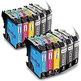OfficeWorld Reemplazo para Brother LC223 Cartuchos de tinta Alta Capacidad Compatible para Brother DCP-J562DW DCP-J4120DW MFC-J480DW MFC-J4420DW MFC-J5320DW (6 Negro, 2 Cyan, 2 Magenta, 2 Amarillo)