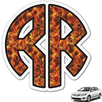 Amazoncom Fire Monogram Car Decal Personalized Automotive - Monogram car decal amazon