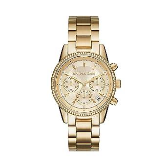 27908f31a Amazon.com: Michael Kors Women's Ritz Gold-Tone Watch MK6356 ...