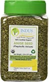 Indus Organics Indian Anise Seeds, 8 Oz Jar, Premium Quality, High Purity, Freshly Packed