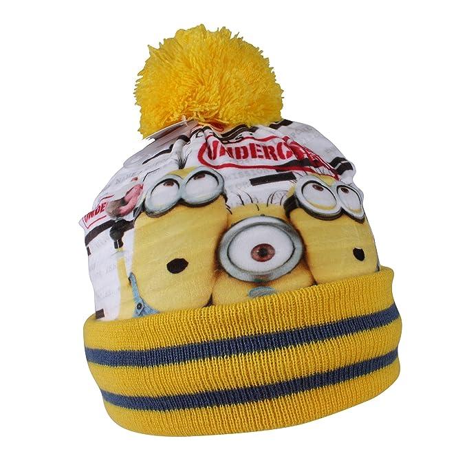 Minions - Cappello Berretto Invernale con Pon Pon - Undercover - Bambino -  Prodotto Ufficiale HO4573 a830e5e755df