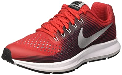 premium selection a0732 3ecb7 Nike Zoom Pegasus 34 GS, Chaussures de Running Fille, Rouge (University  Black