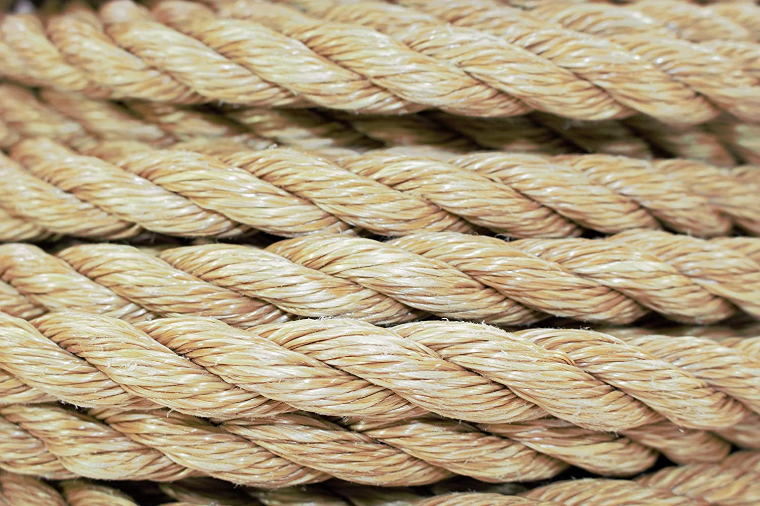 and Chemical Resistant UnManila Tan Twisted 3 Strand Polypropylene Cord DIY Projects SGT KNOTS ProManila Rope Marine Indoor//Outdoor 10 ft Crafts UV Moisture 2 inch Commercial