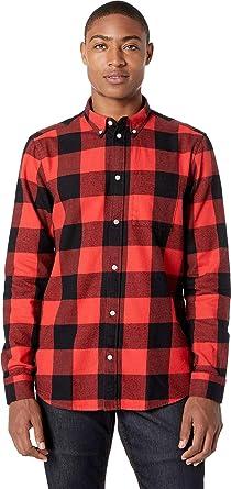 333bee60d1a Amazon.com  WeSC Mens Olavi Plaid Long Sleeve Shirt  Clothing