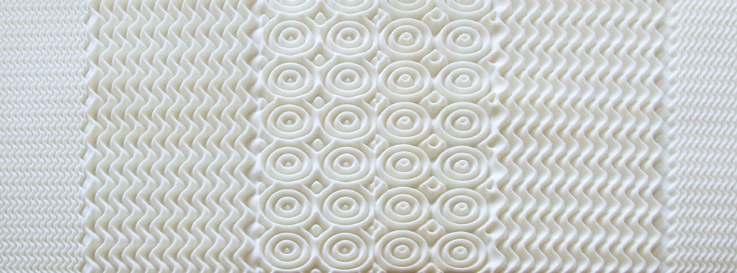 Rio Home Fashions Convoluted Memory Foam Twin Mattress Topper/Pad, White