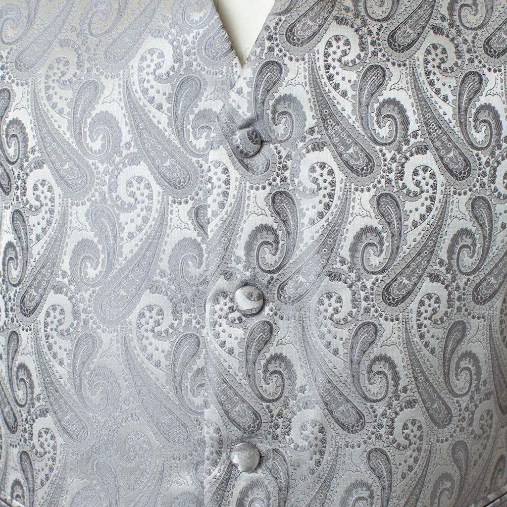 Men's 4pc Paisley Design Formal Tuxedo Dress Vest Necktie Bowtie Handkerchief Set at  Men's Clothing store