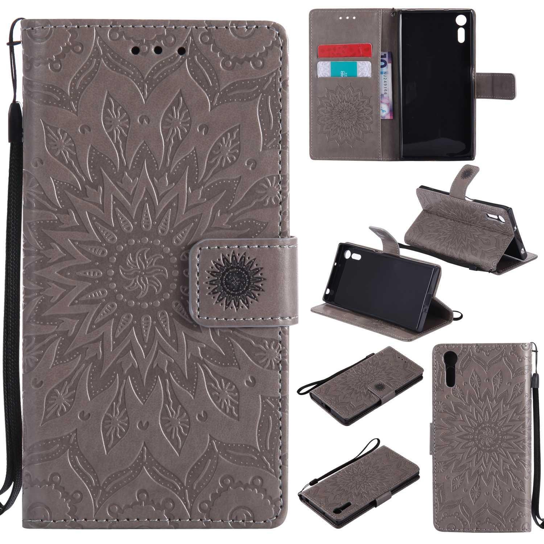 Bear Village/® Leder PU Cover Magnet Filp Brieftasche Schutzh/ülle mit Kostenlos Schutzfilm aus Geh/ärtetem Glas f/ür Sony Xperia XZ #1 Gr/ün Sony Xperia XZ H/ülle