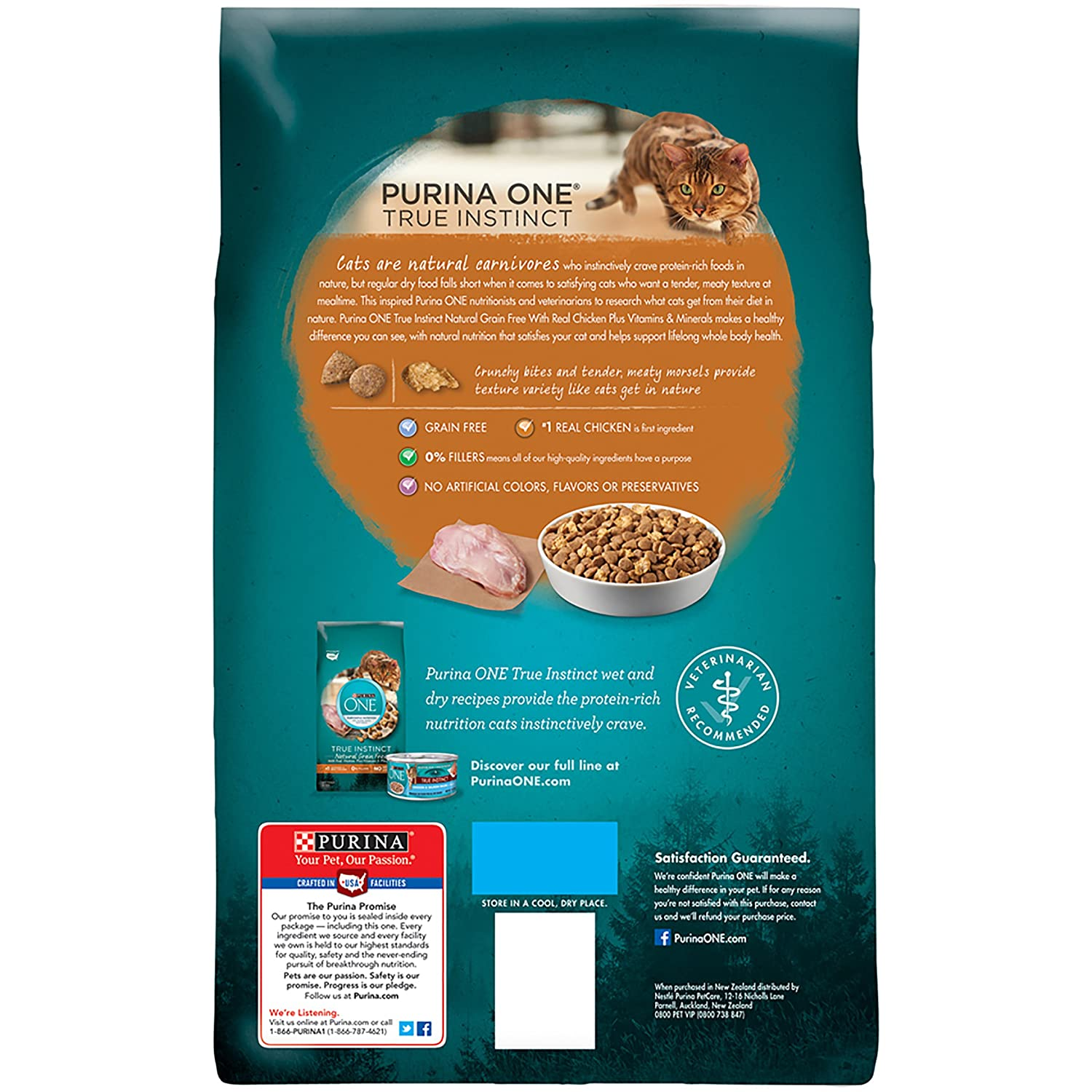 Food Purina Van for cats (Purina One): composition, reviews
