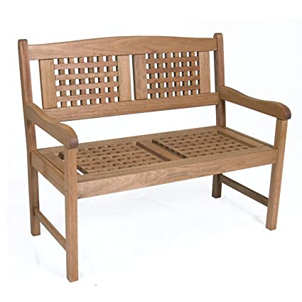 Lovely Amazonia Porto Real 3.5  Feet Eucalyptus Bench