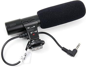 DURAGADGET Micrófono para cámara Nikon D5, Nikon D500 ...