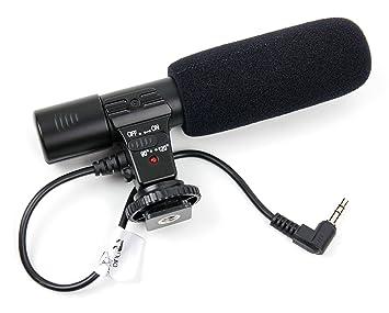 DURAGADGET Micrófono estéreo para cámara Canon EOS 700D, Canon EOS ...