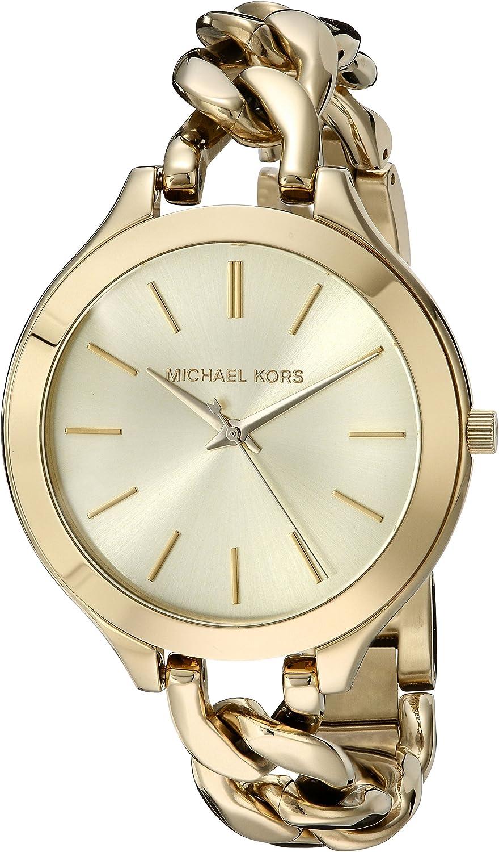 Michael Kors Women s Slim Runway Twist Watch, Gold, One Size
