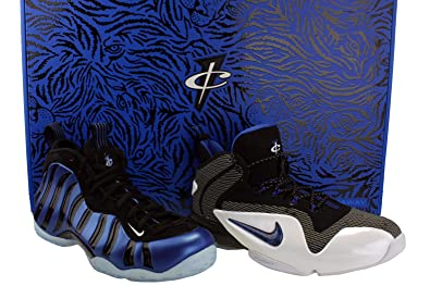 huge selection of 4b12d 132d0 Amazon.com   NIKE Mens Penny Sharpie Pack QS Basketball Shoes Black White Game  Royal 800180-001 Size 8   Basketball