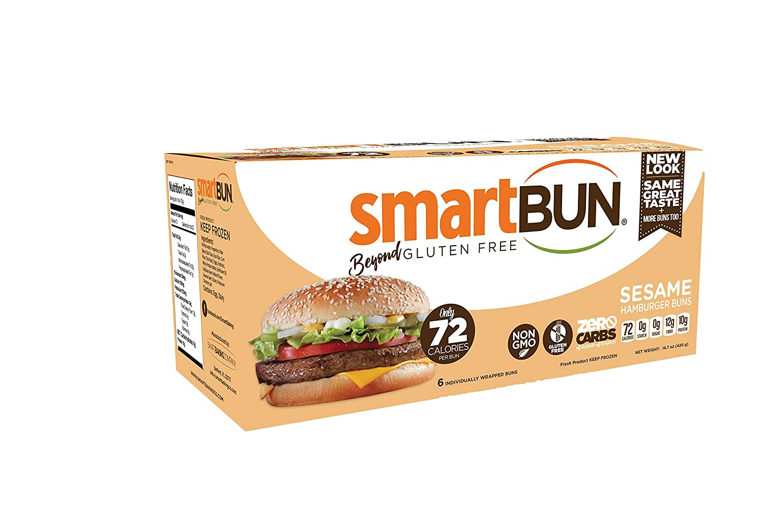 Gluten Free, ZERO CARB of sugar of starch, sesame, Hamburger Buns- 24 pack