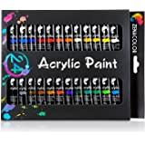 24-Tube Acrylic Paint Set by Zenacolor – Pack of 24 x 12ml Paint Tubes