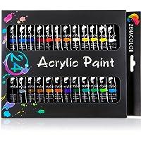 Set da 24 tubetti di pittura acrilica Zenacolor – Confezione da 24 x 12mL
