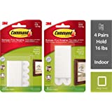 Command Small Picture Hanging Strip (White, 4 Pairs) & Large Picture Hanging Strip(White, Pack of 4) Combo