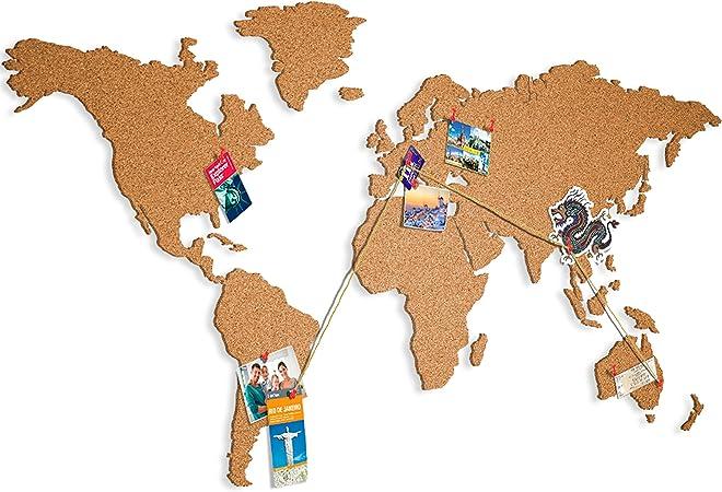 Cartina Mondo In Sughero.Murando Mappa Del Mondo 100 Autoadesivo Sughero Qualcosa Di Nuovo Da Incollare Direttamente Sul Muro Sughero K A 0103 U A Ca 100x55 Cm Amazon It Casa E Cucina