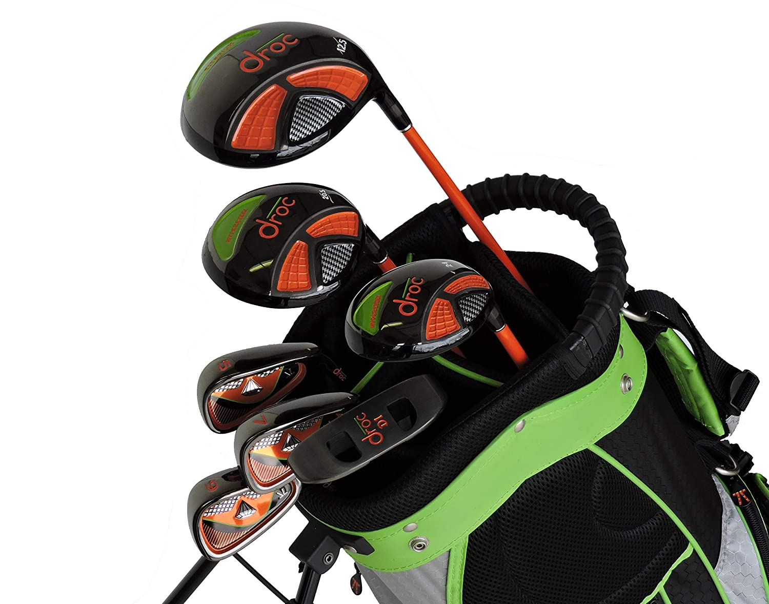 Droc - Noa Series Right Hand 7 Pieces Golf Clubs Set and Golf Bag Age 6-10 Right Handed