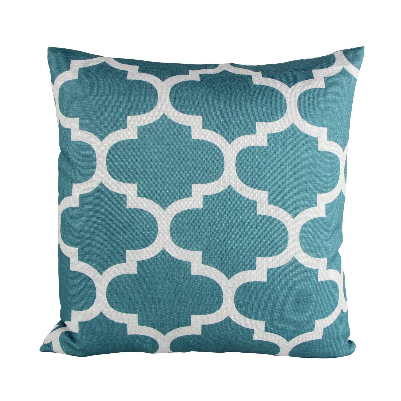 Teal Decorative Throw Pillow C...