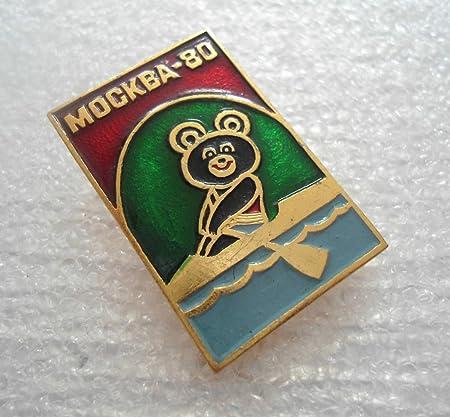 Soviet Pins Moscow Games Symbol Russian Bear Symbol Olympic Games 80 Olympic Games Pin USSR Olympic Games Vintage Metal Pin