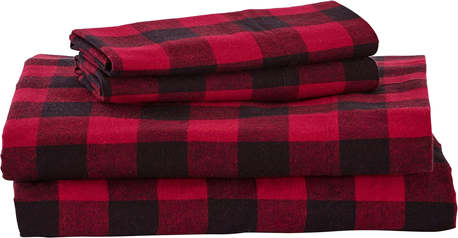 Stone & Beam Red Bed Sheet
