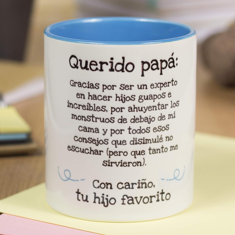 La Mente es Maravillosa - Taza con frase y dibujo divertido (Querido papá, gracias por ser un experto en hacer hijos guapos.) Regalo para PAPÁ