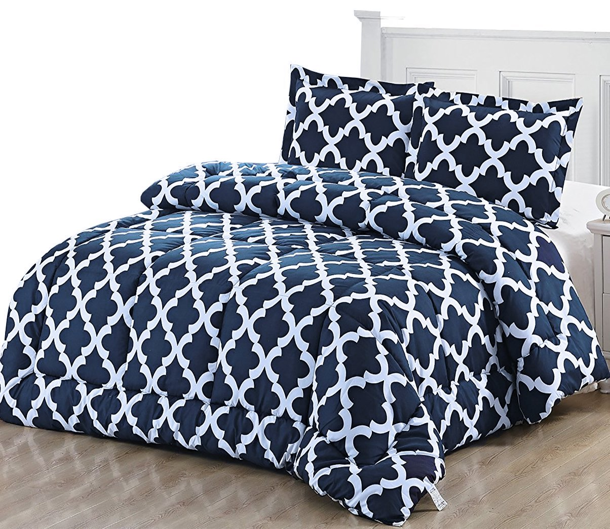 Printed Comforter Set With 2 Pillow Shams Brushed