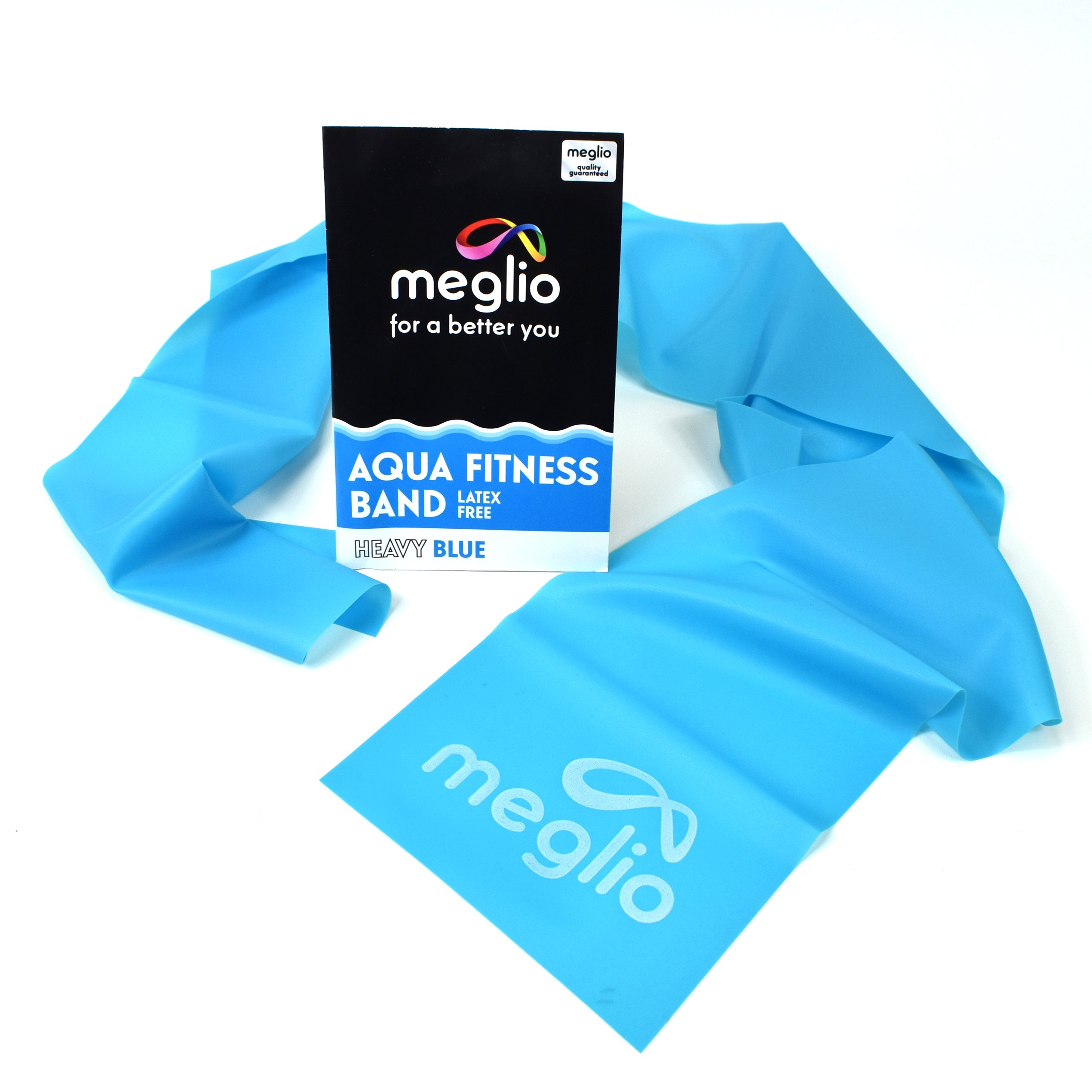 Meglio Latex Free Aqua Resistance Band (Blue (Medium), 4 Feet)
